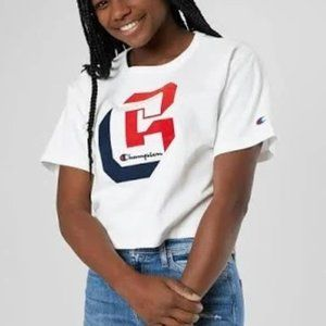 Champion NWT Cropped Graphic Tee